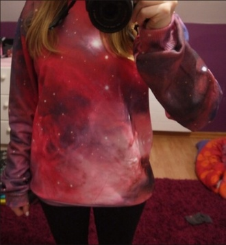 blouse space galaxy print
