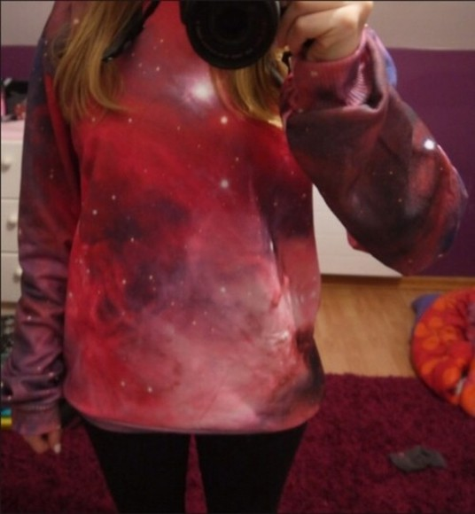 space galaxy blouse