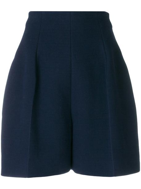 NINA RICCI shorts high women cotton blue