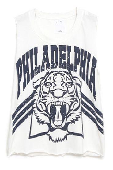 White Tiger PHILADELPHIA Print Vest - Sheinside.com
