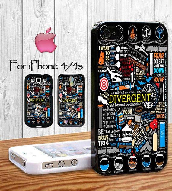 Divergent Quote Collage.jpg iphone case