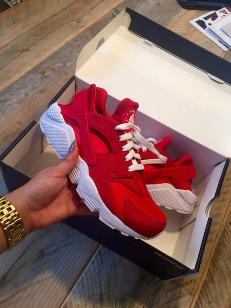 dff88ab83d84 shoes huarache red nike red huaraches cute custom red shoes huarache custom  shoes air max white
