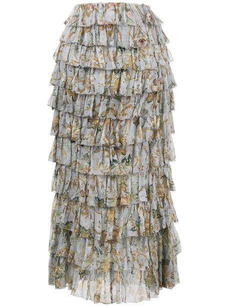 Zimmermann skirt heart women silk