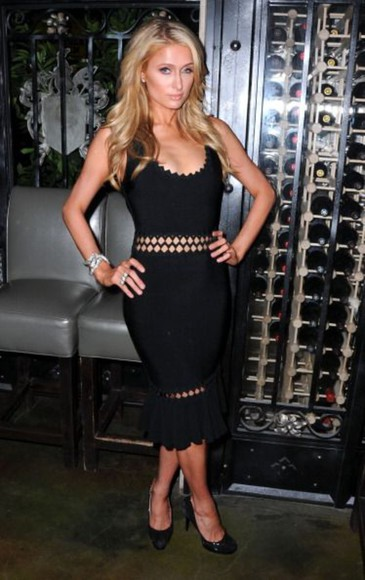shoes paris hilton drees black slim dress