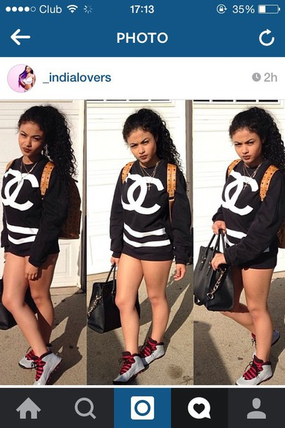 sweater india love india westbrooks chanel t-shirt
