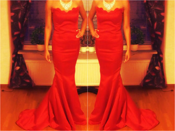 glitter dress prom red red dress necklace crystal jewel crystal necklace nails brown tan fashion high heels fashionista instagram facebook tumblr