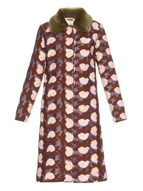 Shrimps coat fur crochet brown