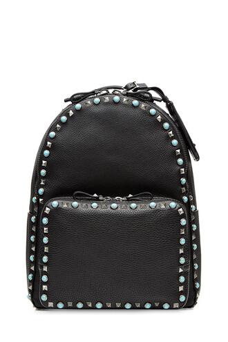 backpack leather backpack leather black bag
