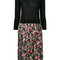 P.a.r.o.s.h. - floral print pleated bottom dress - women - polyester/wool - s, black, polyester/wool
