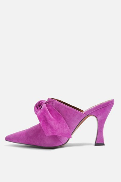 heel flare mules pink shoes