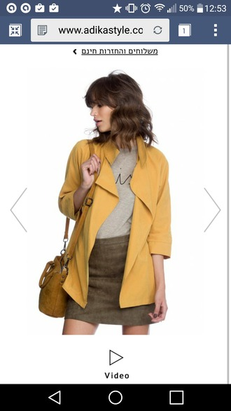 jacket yellow mustard yellow jacket everyday wear everyday casual 3 / 4 sleeve pockets casual jacket mustard jacket polyester polyester jacket fall outfits fall jacket autumn jacket autumn wear