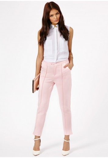 Tazia Cigarette Trousers - Trousers - Missguided