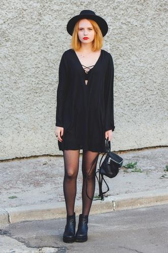 kristina magdalina blogger dress bag black dress