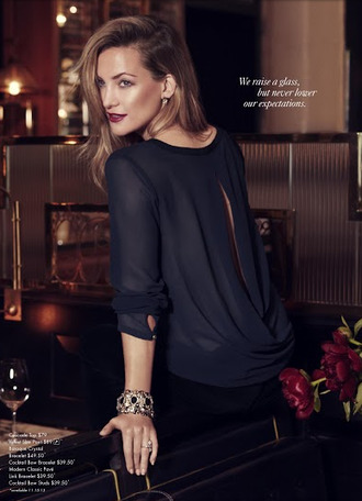 blouse ann taylor lookbook fashion kate hudson