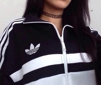 jacket black and white adidas jacket black white adidas jumper white and black adidas  jacket adidas originals