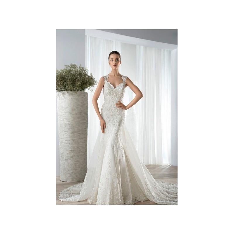 Vestido de novia de Demetrios Modelo 617 - 2016 Evasé Tirantes Vestido - Tienda nupcial con estilo del cordón
