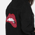 Sequins Lips Distressed Denim Jacket BLACK -SheIn(Sheinside)