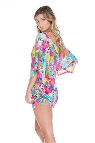dress cover up detoxtea floral luli fama