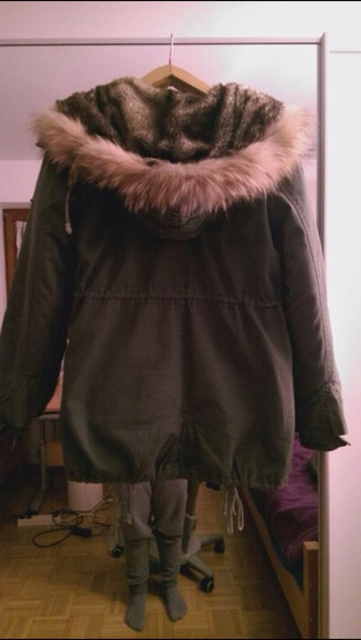 jacket winter swag hipster hot sexy cool olive plüsch winter jacket wonderful