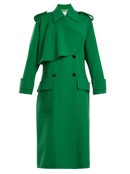 Valentino coat trench coat wool green