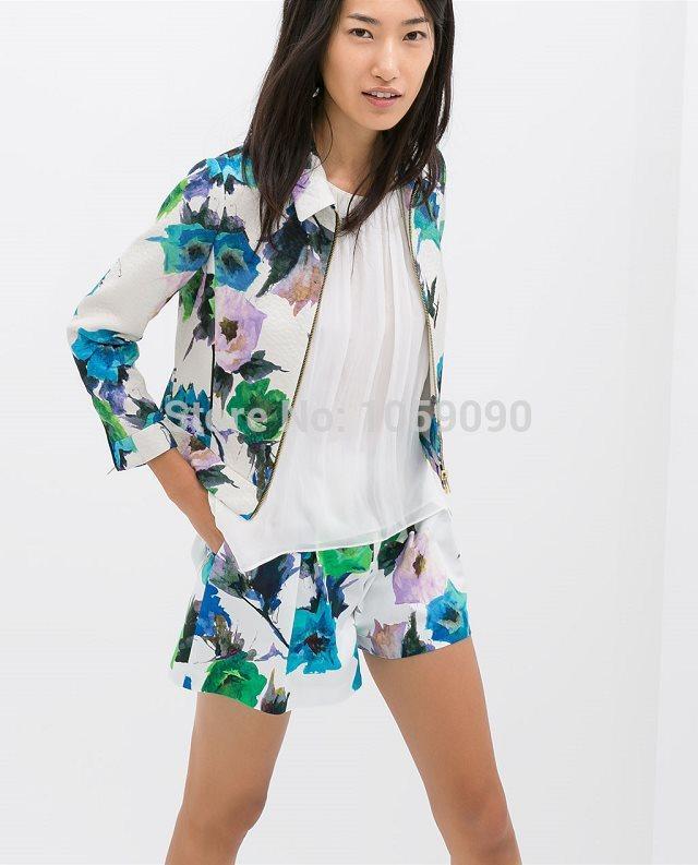 f5284cf2 jacket, zara suit, zara blazer, style, estilo, moda, fashion, cute, girly,  casual, summer, blue flowers, summer outfits, zara, www.zara.com, zara  jacket, ...