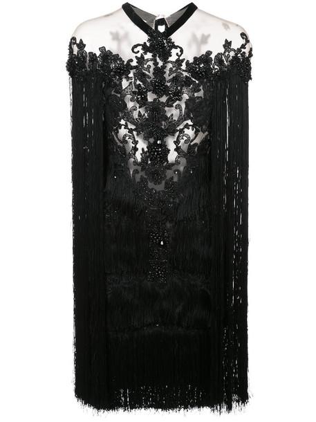 Marchesa dress mini dress mini women beaded black