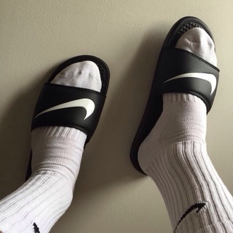shoes nike nike running shoes style slide shoes nike slides nike shoes nikes nike socks black