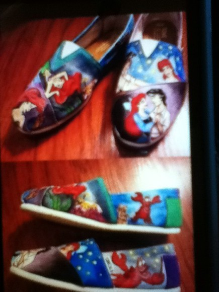 the little mermaid ariel shoes toms sebastian prince eric stars