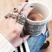 jewels,shop dixi,gypsy,boho,bohemian,hippie,grunge,jewelery,ring,midiring,midirings,aboveknuckle,above knuckle ring