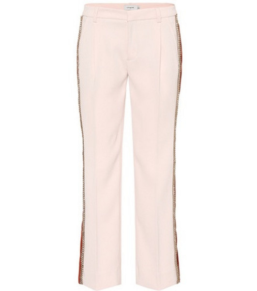 Coach Striped cropped trousers in pink