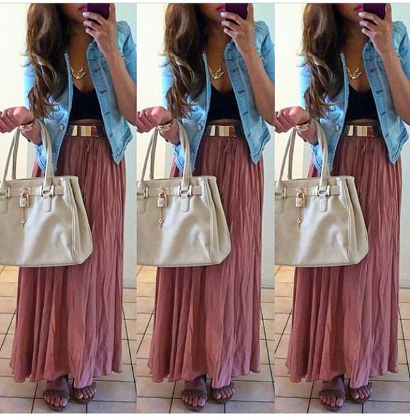 Skirt Style Maxi Dress Maxi Skirt Long Dress Long Sleeves Tumblr Outfit Tumblr Tumblr ...