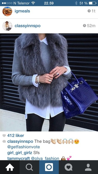 coat fur fur coat fluffy grey sweater blouse girly style summer outfits