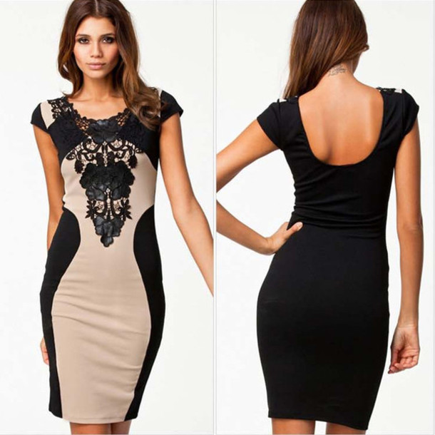 dress khaki nightclub sexy dress short sleeve dress lace dress
