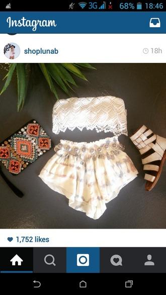 shorts mini summer coachella sexy cute white boho gypsy