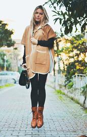 ag on i ya,blogger,coat,camel,skinny pants,sweater,bag,shoes,sunglasses