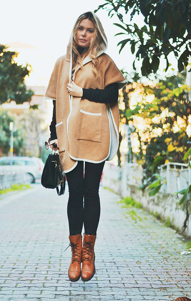 ag on i ya blogger coat camel skinny pants sweater bag shoes sunglasses