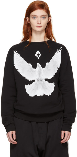 MARCELO BURLON COUNTY OF MILAN sweatshirt black sweater
