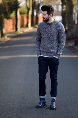 shot from the street blogger sweater jeans shoes