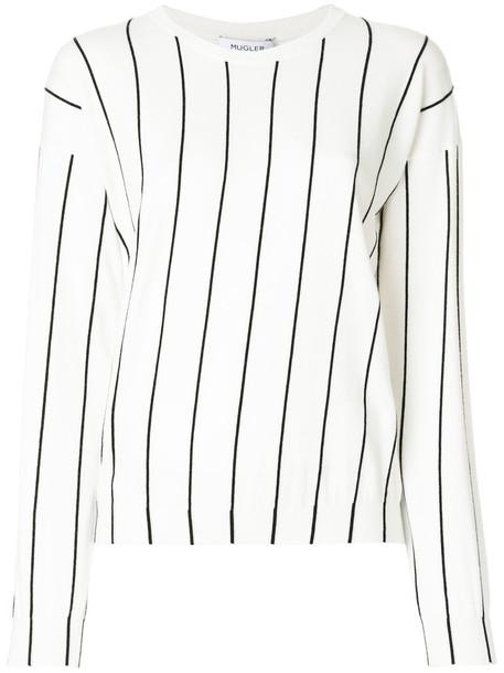 MUGLER jumper women white sweater