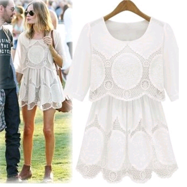 dress white dress lace white lace dress cute dress spring summer
