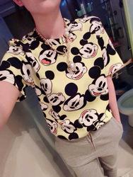 Online Shop 2014 new fashion women clothing shirt casual girl shits summer shirt Mickey Mouse print casual chiffon t shirt shirts plus size Aliexpress Mobile