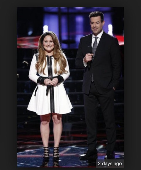 white dress the voice nbc