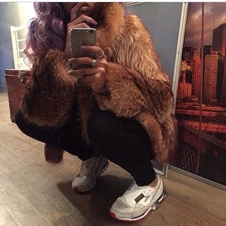 coat urban faux fur shoes