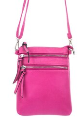 bag,betsy boo's boutique,fuchsia,cross body,purse