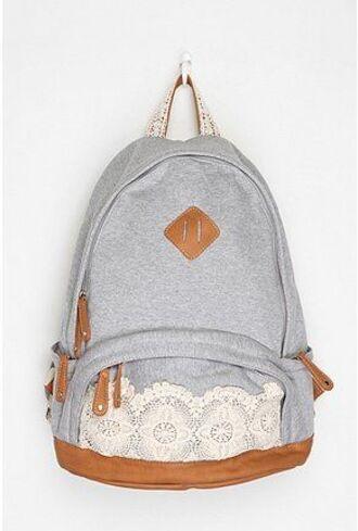 bag grey denim backpack lace backpack blue and white backpack