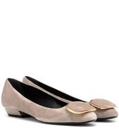 ballet,flats,ballet flats,suede,beige,shoes
