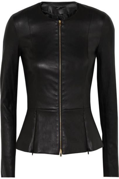 The Row jacket leather jacket leather black