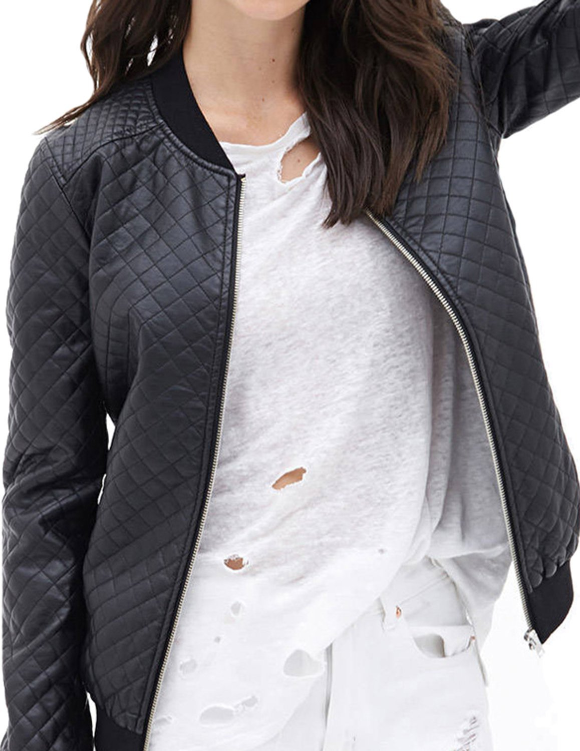 haoduoyi Womens Classic Quilted Jacket Short Padded Bomber Jacket Coat at  Amazon Women's Coats Shop - Womens Classic Quilted Jacket Short Padded Bomber Jacket Coat At