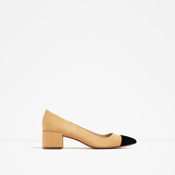 f6204579a390 MID - HEEL SHOES WITH CONTRASTING TOE CAP-SHOES ...