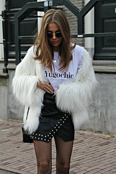 Faux Fur T Shirt